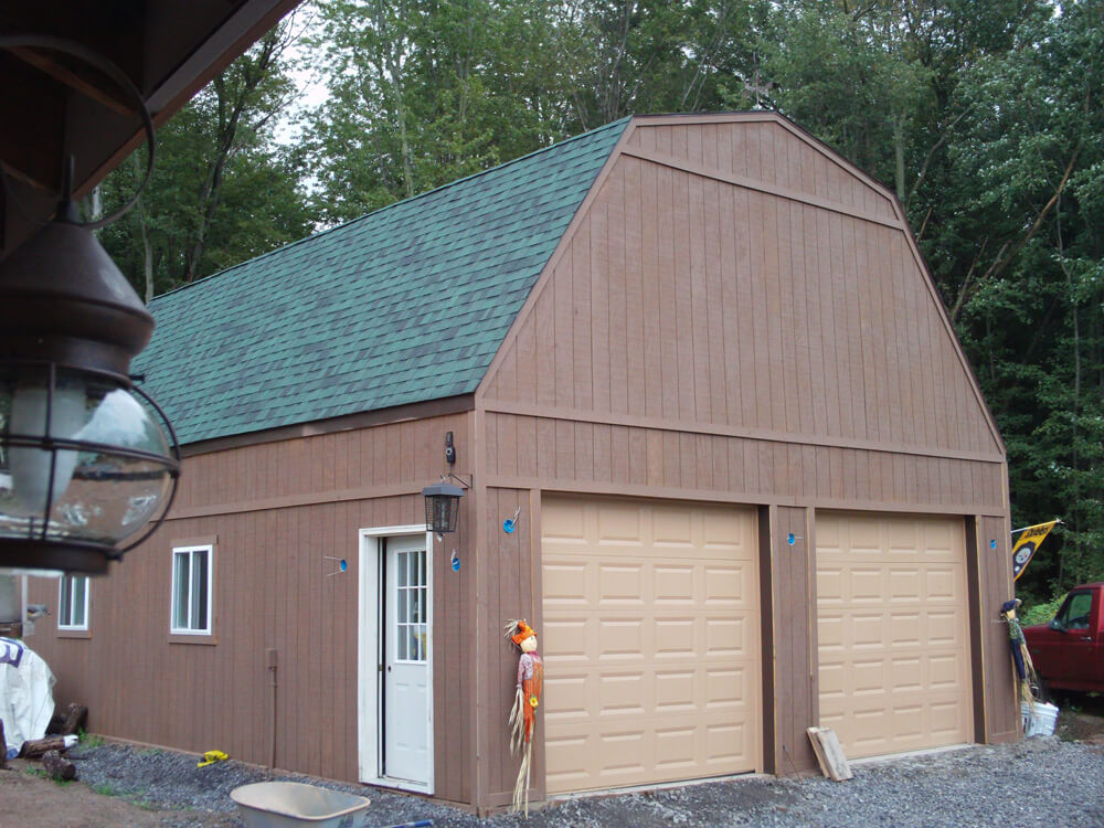 Stud Wall Gambrel Garage