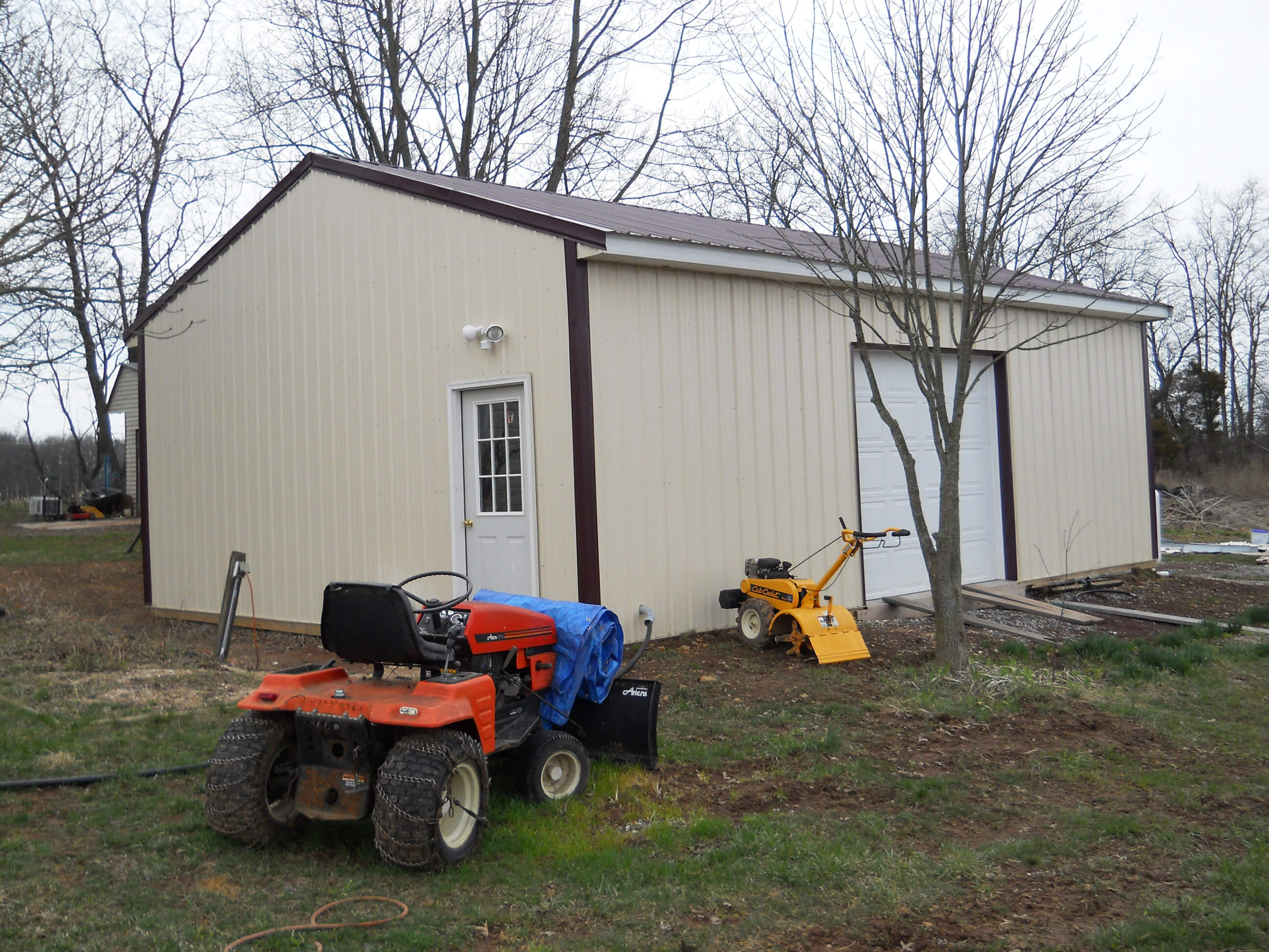 24' x 32' x 10' Standard Pole Building Project by APM ...